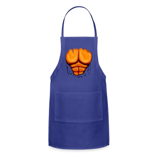 Ripped Muscles Orange, six pack, chest T-shirt - Adjustable Apron