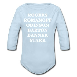 Avengers - Women's T-shirt (White Writing) - Long Sleeve Baby Bodysuit