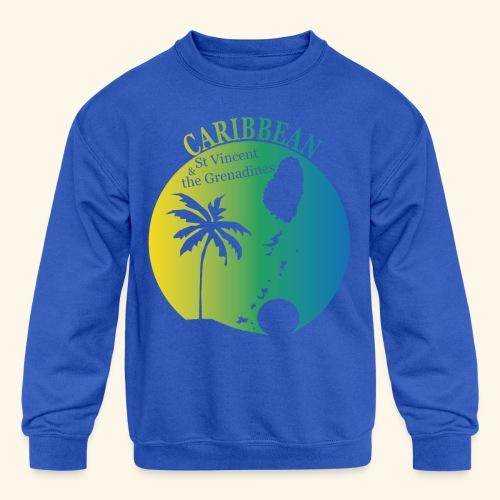 St Vincent & the Grenadines - Kid's Crewneck Sweatshirt