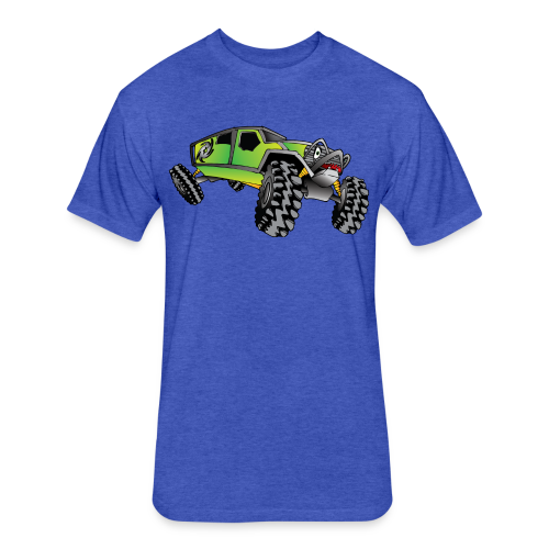 Cartoon Off-Road Monster Truck - Fitted Cotton/Poly T-Shirt by Next Level