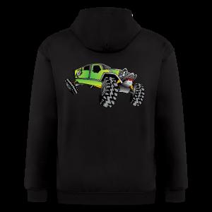 Cartoon Off-Road Monster Truck - Men's Zip Hoodie