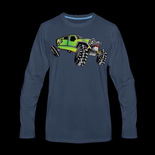 Cartoon Off-Road Monster Truck - Men's Premium Long Sleeve T-Shirt
