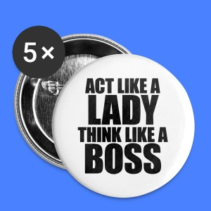 Act Like A Lady Think iPhone 5 Cases - Small Buttons