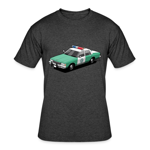 SD County Sheriff Department Vintage Police Car - Men's 50/50 T-Shirt