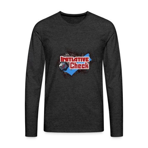 InitiativeCheckSweathshirtGrey - Men's Premium Long Sleeve T-Shirt