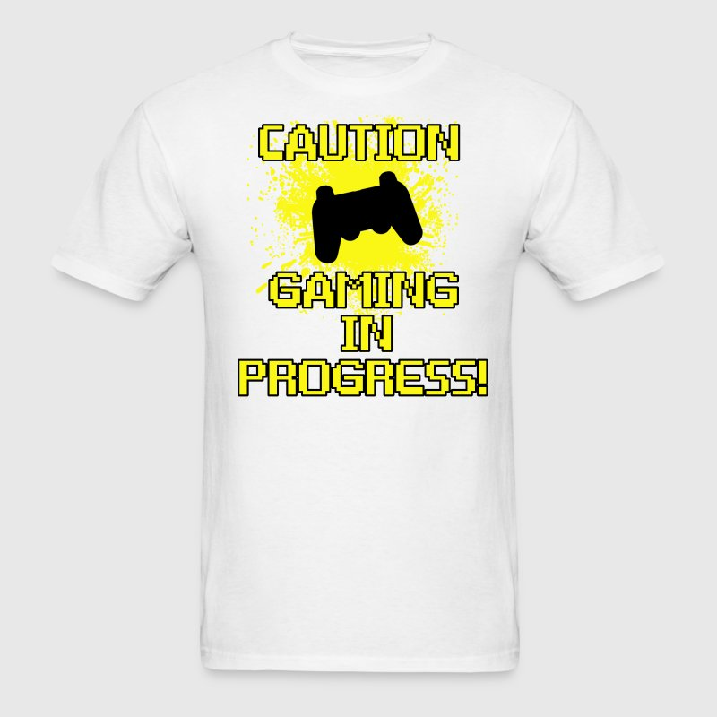 Caution, Gaming in Progress - Men's T-Shirt