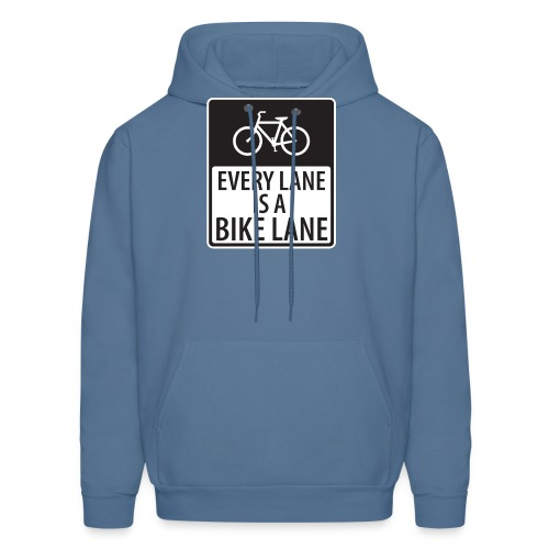 every lane is a bike lane shirt - Men's Hoodie