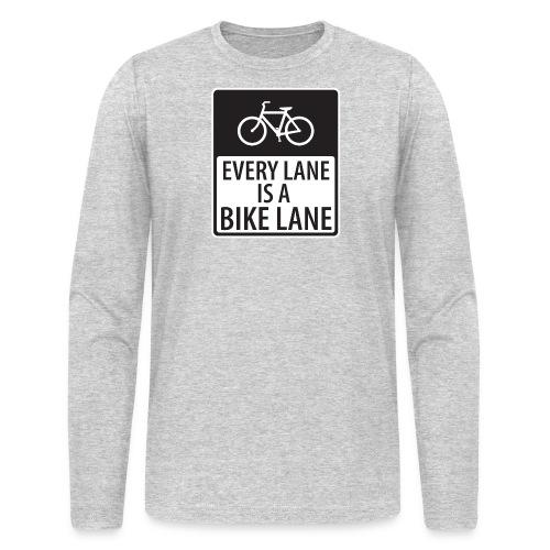 every lane is a bike lane shirt - Men's Long Sleeve T-Shirt by Next Level