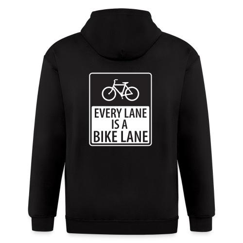 every lane is a bike lane shirt - Men's Zip Hoodie
