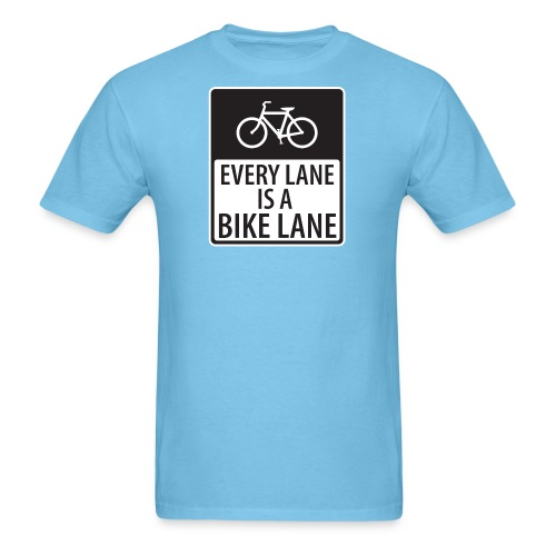 every lane is a bike lane shirt - Men's T-Shirt