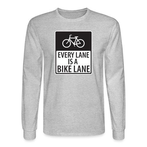 every lane is a bike lane shirt - Men's Long Sleeve T-Shirt