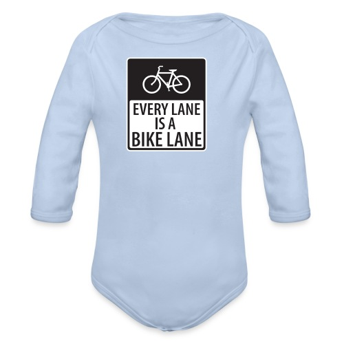 every lane is a bike lane shirt - Organic Long Sleeve Baby Bodysuit