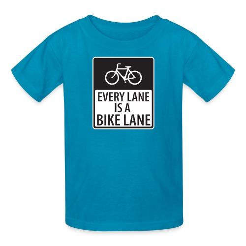 every lane is a bike lane shirt - Kids' T-Shirt