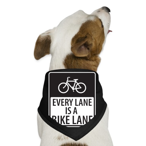 every lane is a bike lane shirt - Dog Bandana