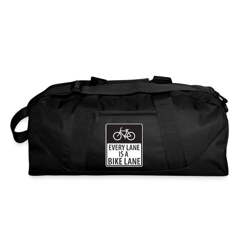 every lane is a bike lane shirt - Duffel Bag