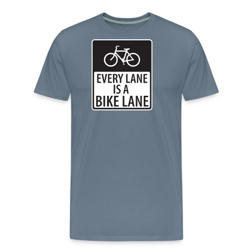 every lane is a bike lane shirt - Men's Premium T-Shirt