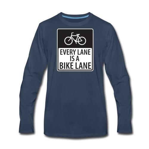 every lane is a bike lane shirt - Men's Premium Long Sleeve T-Shirt