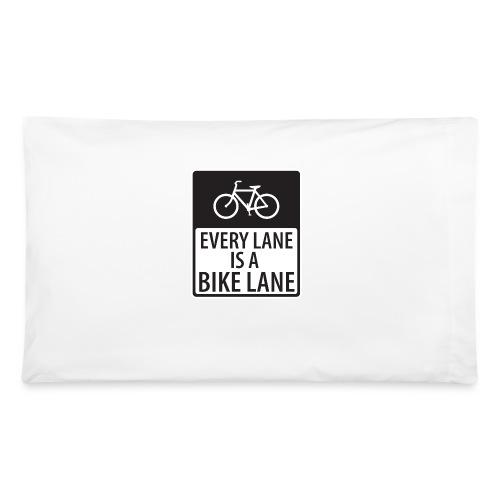 every lane is a bike lane shirt - Pillowcase