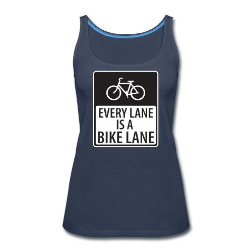every lane is a bike lane shirt - Women's Premium Tank Top