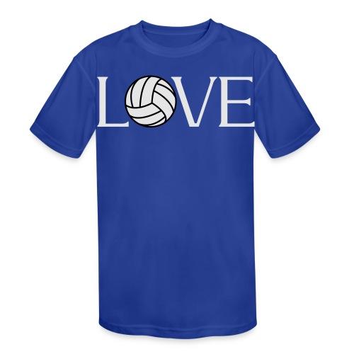 Volleyball Love player fan t-shirt - Kids' Moisture Wicking Performance T-Shirt