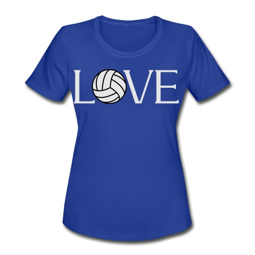 Volleyball Love player fan t-shirt - Women's Moisture Wicking Performance T-Shirt
