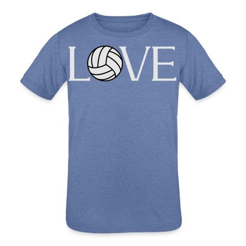 Volleyball Love player fan t-shirt - Kids' Tri-Blend T-Shirt