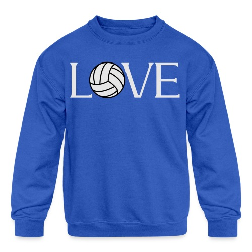 Volleyball Love player fan t-shirt - Kids' Crewneck Sweatshirt