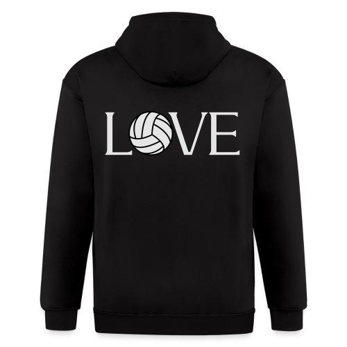 Volleyball Love player fan t-shirt - Men's Zip Hoodie