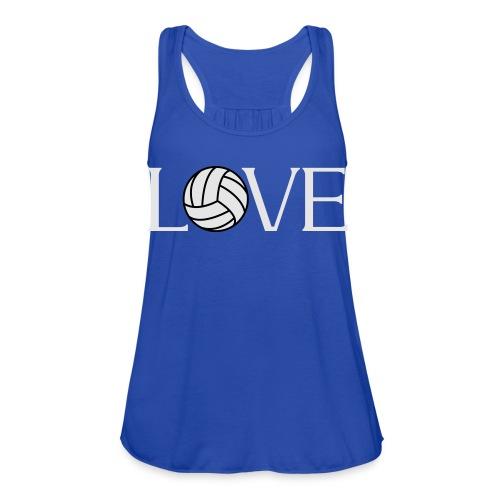 Volleyball Love player fan t-shirt - Women's Flowy Tank Top by Bella