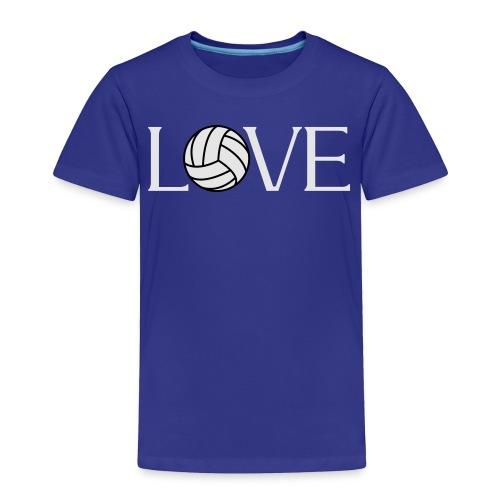 Volleyball Love player fan t-shirt - Toddler Premium T-Shirt