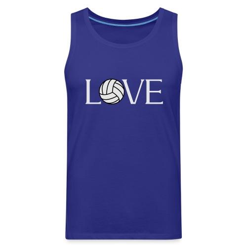 Volleyball Love player fan t-shirt - Men's Premium Tank