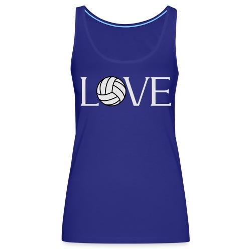 Volleyball Love player fan t-shirt - Women's Premium Tank Top