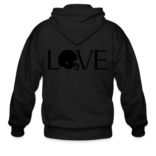 Football Love player fan t-shirt - Men's Zip Hoodie