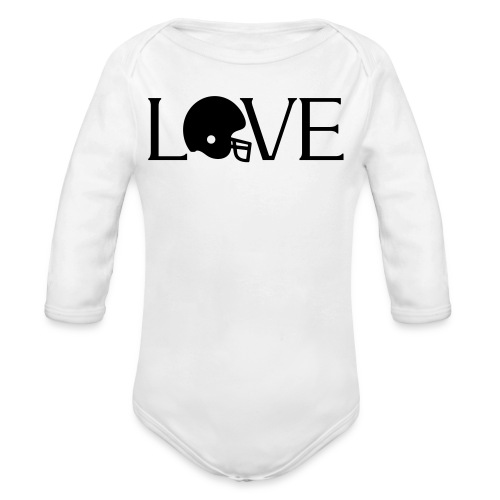 Football Love player fan t-shirt - Organic Long Sleeve Baby Bodysuit