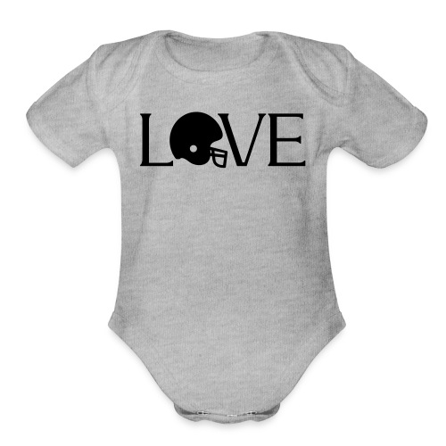 Football Love player fan t-shirt - Organic Short Sleeve Baby Bodysuit