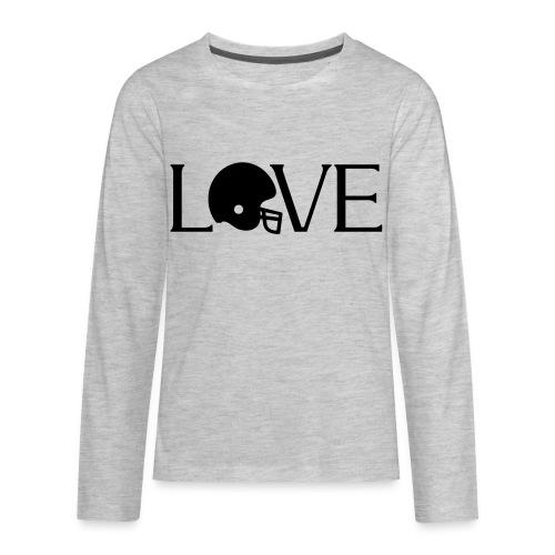 Football Love player fan t-shirt - Kids' Premium Long Sleeve T-Shirt