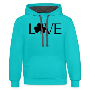 Shamrock Love irish t-shirt - Contrast Hoodie