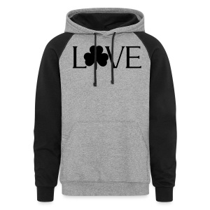 Shamrock Love irish t-shirt - Colorblock Hoodie