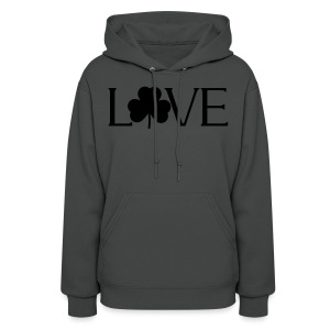 Shamrock Love irish t-shirt - Women's Hoodie