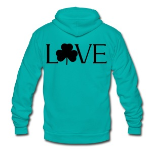 Shamrock Love irish t-shirt - Unisex Fleece Zip Hoodie