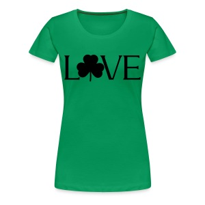 Shamrock Love irish t-shirt - Women's Premium T-Shirt