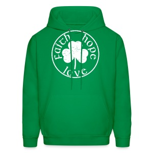 Irish Shamrock faith hope love shirt - Men's Hoodie