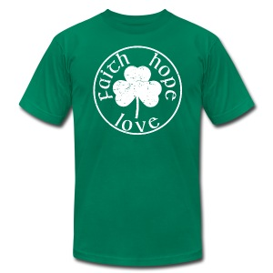 Irish Shamrock faith hope love shirt - Men's Fine Jersey T-Shirt
