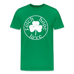 Irish Shamrock faith hope love shirt - Men's Premium T-Shirt