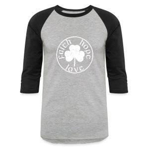 Irish Shamrock faith hope love shirt - Baseball T-Shirt