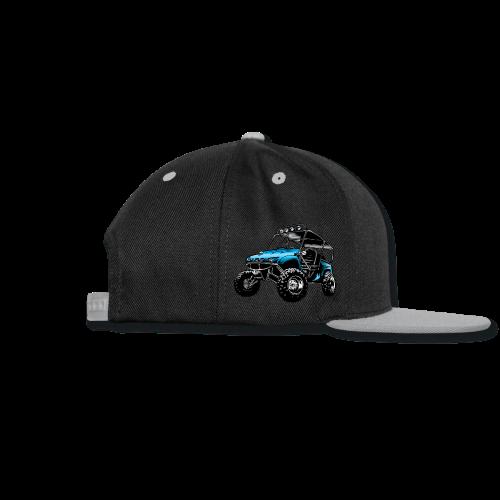 UTV side-x-side, blue - Snap-back Baseball Cap