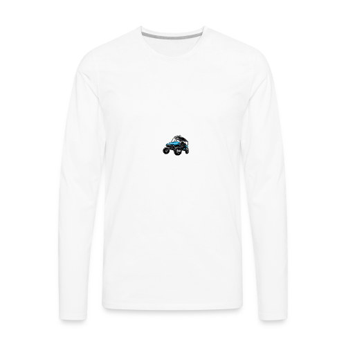 UTV side-x-side, blue - Men's Premium Long Sleeve T-Shirt