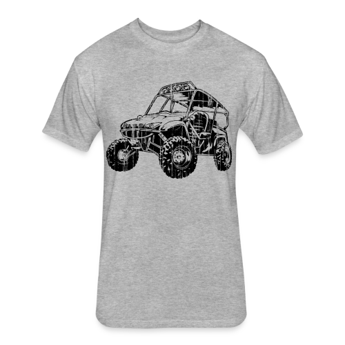UTV side-x-side, distressed - Fitted Cotton/Poly T-Shirt by Next Level