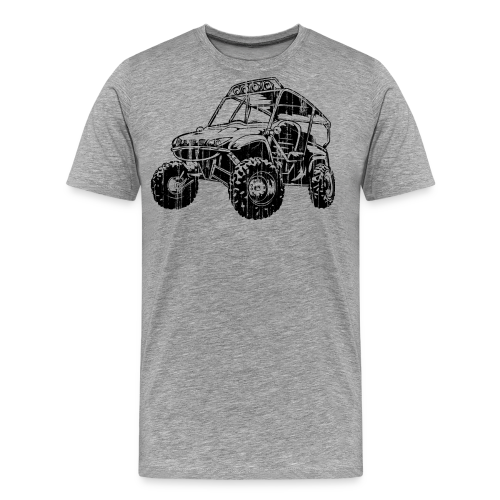 UTV side-x-side, distressed - Men's Premium T-Shirt