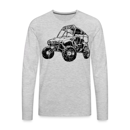 UTV side-x-side, distressed - Men's Premium Long Sleeve T-Shirt